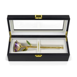 24k Gold Two Toned Purple Infinity Rose